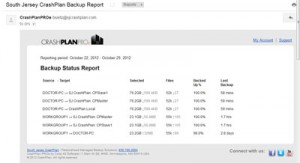 backup report